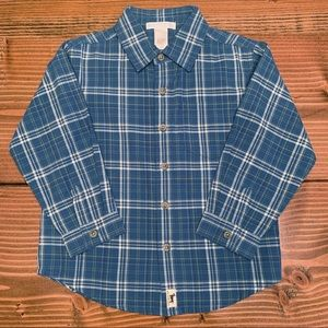 JANIE AND JACK Plaid Button Down Shirt 3T